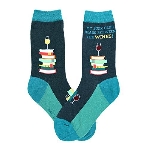 Foot Traffic, Women's Education-Theme Socks, Book Club (Shoe Sizes 4-10)