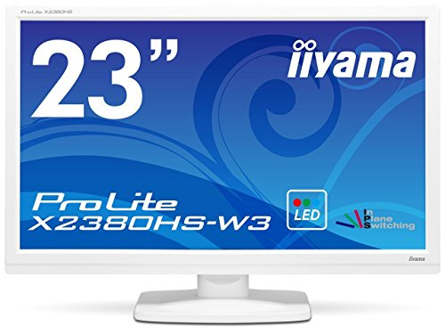 iiyama 23型ワイド液晶ディスプレイ ProLite X2380HS-W3 (IPS、LED) ピュアホワイト X2380HS-W3