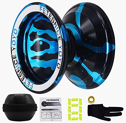 FETESNICE Aluminum Fancy Yoyo, Unresponsive Yo Yo Ball, Competitive Spin Yo-yo Ball for Yoyo...