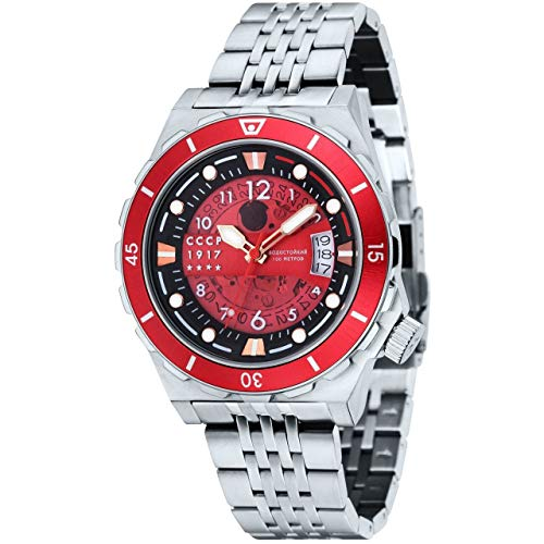 CCCP Aurora–Reloj de acero inoxidable CP-7022-44