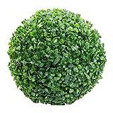 Anewu Bola de Madera de boj, decoración de Bola de Planta de plástico Verde Decoración de Fiesta de Boda al Aire Libre en casa Bola de Hierba de siembra para decoración de Exterior