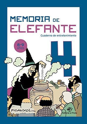 Memoria de elefante 4: cuaderno de entretenimiento: Juegos para niños de 8 y 9 años: cuarto de primaria: Cuadernillo de actividades (cuadernos de actividades)