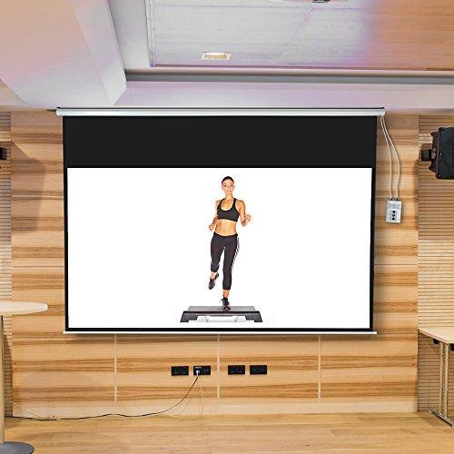 Melko Leinwand für Beamer, Heimkino, Büro, Projektoren, 300 x 169 cm, 121 Zoll, ideal für HD-TV mit Motor und Fernbedienung