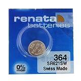 Renata SR621SW Batterie 364 per orologio e altri dispositivi, 19 mAh