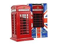 Tirelire souvenir londonien cabine téléphonique rouge En métal moulé sous pression. Petite taille compacte. L'une des meilleures ventes de la Tirelire souvenir de Londres. Cadeau idéal pour les amis et la famille.