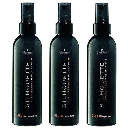 Schwarzkopf Silhouette Super Hold Gel Lac, 3er Pack (3 x 200 ml)