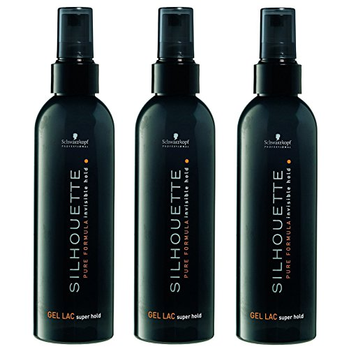Schwarzkopf Silhouette Super Hold Gel Lac, 3er Pack (3 x 200 ml)