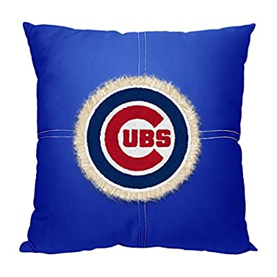"Officially Licensed MLB Decorative Letterman Pillow, Soft & Comfortable, Throws & Bedding, 18"" x 18"""