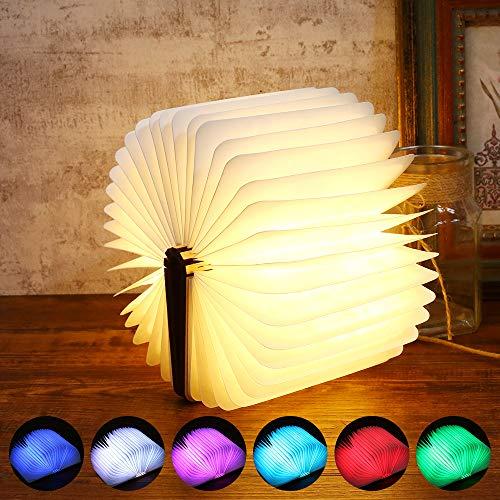 Sailnovo Lámpara LED Lámpara Libro Lámpara Mesa