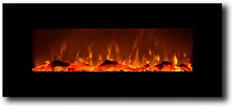"""Regal Flame Ashford Black 50"""" Log Ventless Heater Electric Wall Mounted Fireplace Better Than Wood Fireplaces, Gas Logs, Fireplace Inserts, Log Sets, Gas Fireplaces, Space Heaters, Propane"""