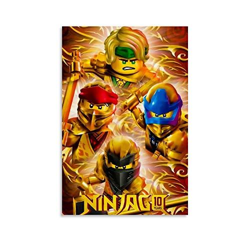 Poster sur toile de dessin animé Ninjago - Décoration murale moderne pour chambre de famille - 20 x 30 cm
