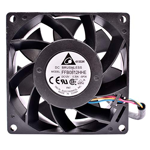 FFB0812HHE 8cm 8038 80x80x38mm DC12V 0.30A server low speed mute cooling fan