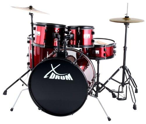 """Batteria de XDrum, set de batería Rookie 22"""" Fusión rojo"""