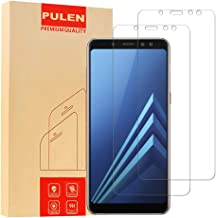 [2-Pack] PULEN Screen Protector for Samsung Galaxy A8 2018,0.3MM Slim And 9H Hardness Tempered Glass [Anti-Scratch] [Bubble Free] Extreme Hardness with Lifetime Replacement Warranty
