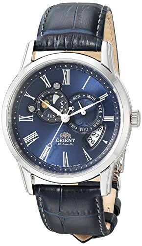 Orient Men's FET0T004D0 Classic Sun and Moon Version 2 Analog Automatic Blue Watch