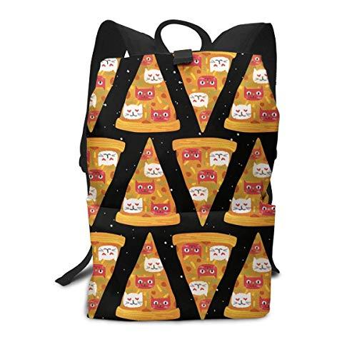 Homebe School Zaino Scuola, Cartella per Laptop,Borsa Viaggio For Adult Boys Girls Kids, Pizza Cat Printed Primary Junior High Cute Bag Bookbag Elementary