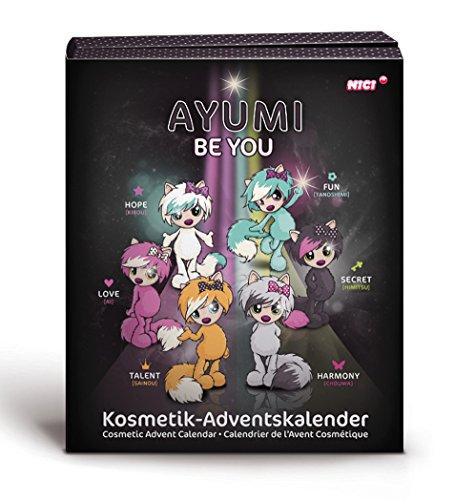 Nici 39169 - Adventskalender mit Ayumi Kosmetik befüllt, bunt