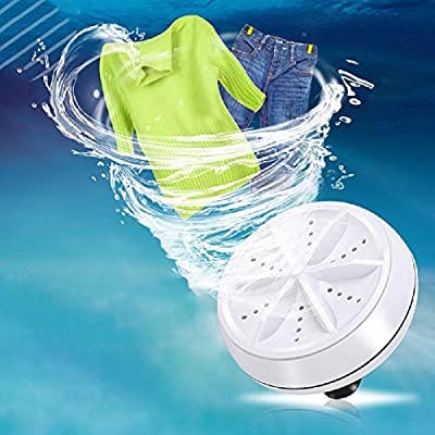 Portable Washing Machine, Gayrrnel Mini Washing Machine Ultrasonic Turbo Washer With USB Cable - for Home Camping Dorms Business RV Trip College Rooms