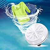 Portable Washing Machine, Gayrrnel Automatic Mini Washing Machine Ultrasonic Lightweight Turbo Washer With USB Cable - for Home Camping Dorms Business RV Trip College Rooms