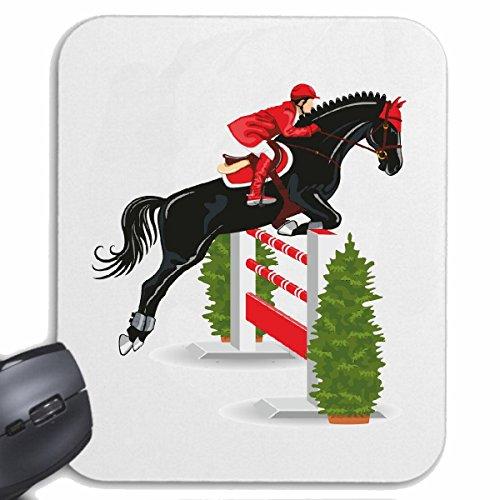 Reifen-Markt Mousepad (Mauspad) Pferde SPRINGEN Pferde REITEN Reiter Pferdesport Pferdekopf Dressurreiten Rodeo Cowboy Springreiten Reitsport Hengst Pony für ihren Laptop, Notebook oder Internet PC (