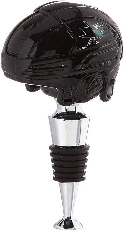 Team Sports America San Jose Sharks Logo Helmet Wine Bottle Stopper