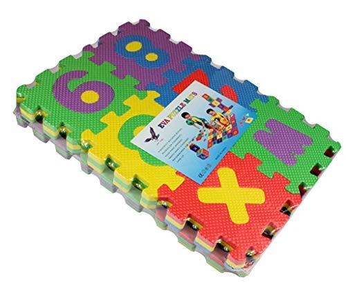 WUMOFIF Babyspielzeug Spielteppich Schaumstoffmatte Motorikspielzeug Puzzel für Baby Kinder ab 1 2 3 Jahre Freizeit-und Unterhaltungspädagogik Montessori Motorik Spielzeug 5 * 5CM