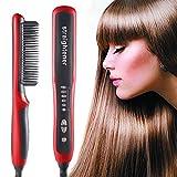 Cepillo para alisar el cabello Cepillo para alisar la barba Multifuncional eléctrico Peine para el cabello Cepillo para alisar la barba 6 secciones Control de temperatura