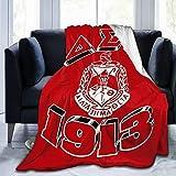 HUADIZ Delta Sigma Theta Blanket All Season Super Soft Cozy Bed Sofa Blanket Air Conditioner Quilt