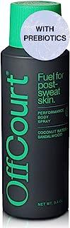 اسپری بدن Deodorant برای مردان OffCourt - فاقد آلومینیوم - پربیوتیک های قدرتمند برای مبارزه با بوی بدن - بالا بردن کلن تا آخرین روز - اسپری دئودورانت مردانه با رایحه چوب صندل - 3.4 اونس