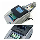 Detector de billetes contador 2 en 1 portatil a red 220V y batería recargable