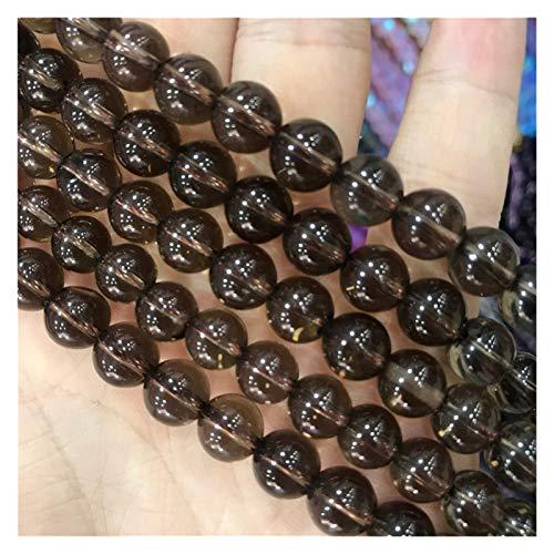 HETHYAN Cuentas de Piedras Naturales de Cuarzo Ahumado Citrino Ronda Brown Cristal Gema 6,8,10mm 15' for la joyería Que Hace DIY Pulsera de Las Mujeres