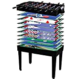 Maxstore 'Multi Game Etisch Mega 15 in 1 Game with Accessories, Choice of Color: Black / Beech Black