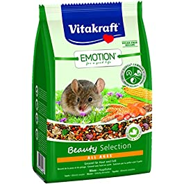 Vitakraft Complete Food for Mice, Carrot, and Maize Grains, Trivita Complex, Emotion Beauty Selection All Ages