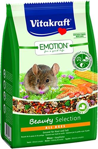 Vitakraft Alleinfutter für Mäuse, Karotte, Getreide und Mais, TriVita-Complex, Emotion Beauty Selection All Ages (6x300g)
