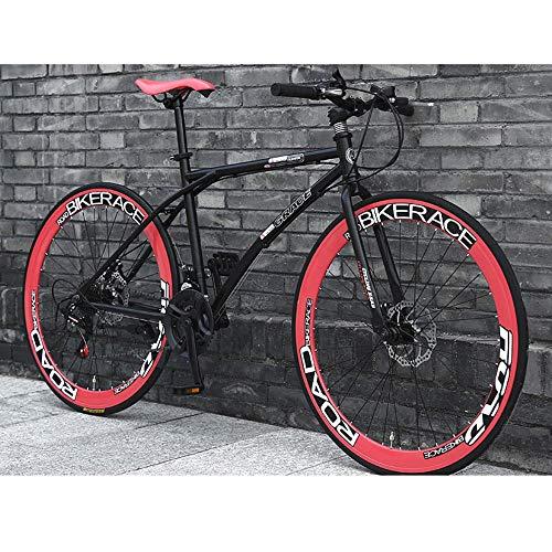 LWJPP 2020 Suspensión Nueva Bici de montaña de 26 Pulgadas Ruedas de radios 24 Full Speed MTB for Adultos Adolescentes Niña Niño Bicicletas con Robusta de Acero integradas (Color : A)