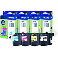 Brother LC-221 - Cartuchos de tinta para impresoras DCP J562DW, MFC J480DW, J680DW (4 colores)