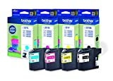 Brother LC-221 Original Tintenpatronen (schwarz, gelb, cyan, magenta) im Value Pack (kompatibel mit Brother DCP-J562DW, MFC-J480DW, MFC-J680DW, MFC-J880DW)