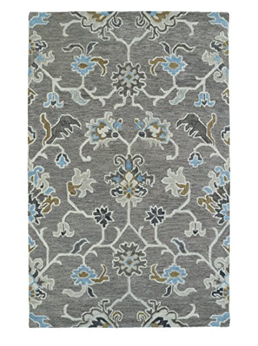 Kaleen Rugs Helena Hand-Tufted Area Rug, Grey/Light Blue, 2' x 3'