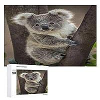 Baby Koala Bear 木製パズル大人の贈り物子供の誕生日プレゼント(50x75cm)1000ピースのパズル