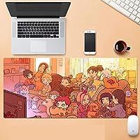 マウスパッド おおきめ ゲーミングマウスマット、 ナルトマウスパッドゲーミングラージXXLナルトアニメマウスパッドゲーマービッグマウスマットコンピュータデスクマットXXLキーボードパッド-A_700x300x3mm