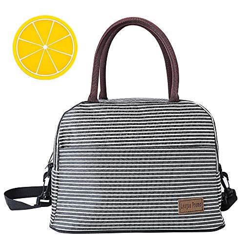 Lunch Bag Large Insulated Lunch Bags for Women Men Cooler Tote Bag Adult Lunch Box Organizer Holder Container with Removable Shoulder Strap