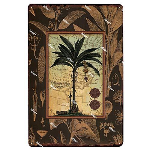Guangzhouf Cartel de Chapa Placa de Metal Placa de jardín Vintage Pub Bar decoración Cartel decoración del hogar 20x30 cm 2350