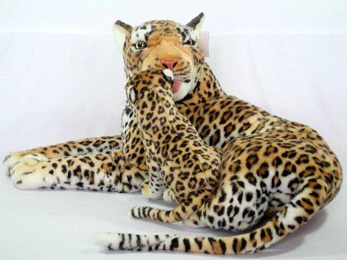 Wagner 2010 - Plüschtier Leopard mit Baby - liegend - 90 cm