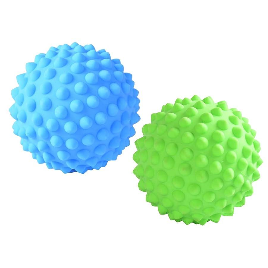 高揚したために絵Fenteer マッサージローラーボール マッサージローラー 指圧ボール トリガーポイント 筋膜リリース 2個入