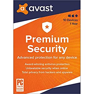 Avast Premium Security 2021   Antivirus Protection Software   10 Devices, 1 Year [PC/Mac/Mobile Download]