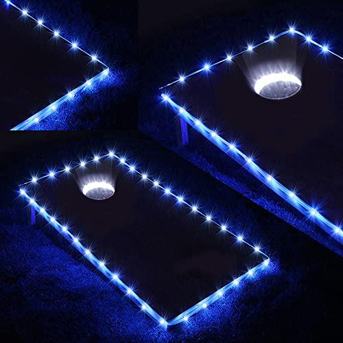 Blinngo Cornhole Board Edge and Ring Lights