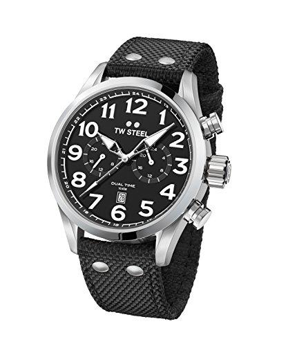 TW Steel volante orologio da polso VS7Dual Time Nastro in tessuto nero UVP 249eur