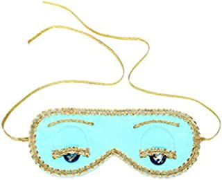 Utopiat Audrey Style Silk Blue Sleep Eye Mask Inspired by Breakfast at Tiffany's