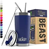 BEAST 20oz Royal Blue Tumbler - Stainless Steel Vacuum Insulated Coffee Cup Double Wall Travel Flask