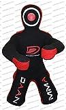 DAAN Muñeco de artes marciales mixtas, sin relleno, posición sentada, brasileña JIU Jitsu presentación, maniquí de lucha libre sentado (lona roja, 177,8 cm hasta 54,8 kg – sin relleno)